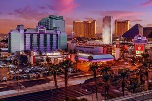 Widok kasyna w Las Vegas