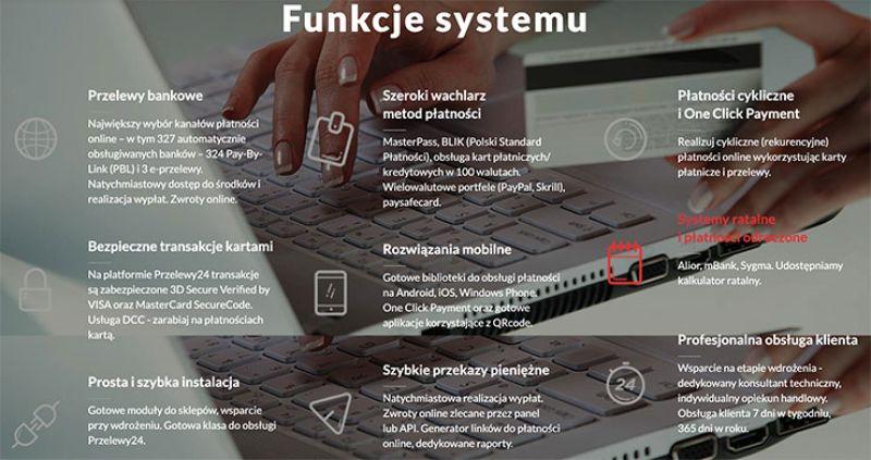funkcje systemu przelewy24