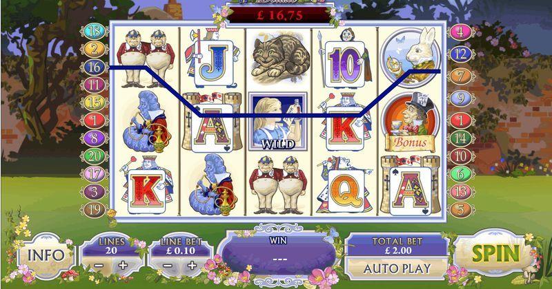 Zagraj w Adventures in Wonderland automat online od Playtech za darmo już teraz | Kasynos Online