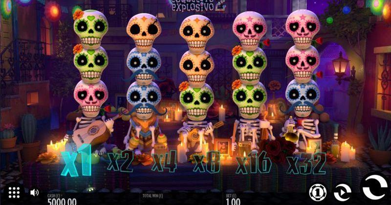 Zagraj w Esqueleto Explosivo 2 automat online od Thunderkick za darmo już teraz   Kasynos Online