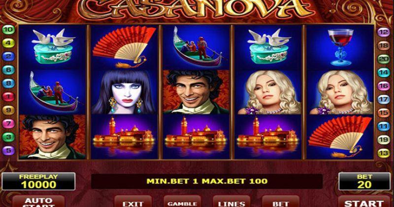 Zagraj w Casanova slot online od Amatic za darmo już teraz | Kasynos Online