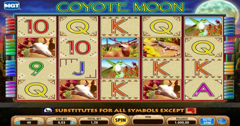 Zagraj w Coyote Moon – automat online od IGT za darmo już teraz   Kasynos Online