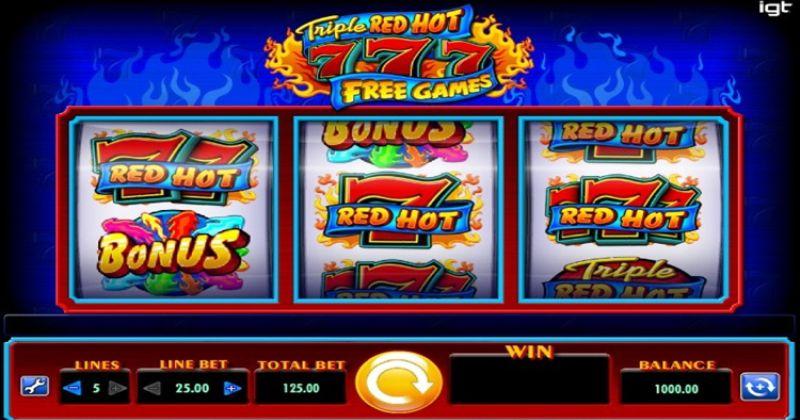 Zagraj w Triple Red Hot 777 automat online od IGT za darmo już teraz   Kasynos Online