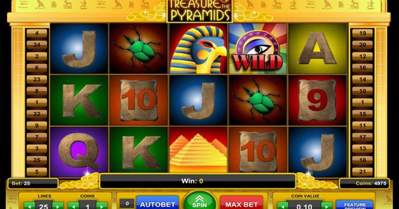 Zagraj w Treasure of the Pyramids slot od 1x2 Gaming za darmo już teraz | Kasynos Online